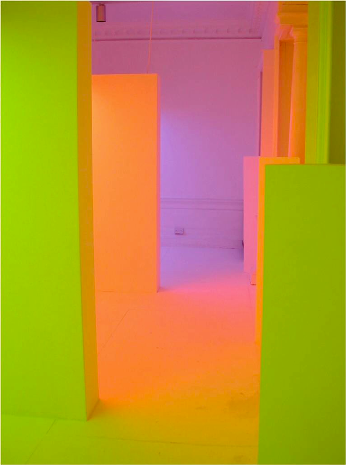 Carlos Cruz-Diez, Chromointerference & Chromosaturation, UK 2003