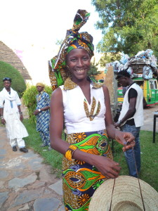 Fatoumata Diabate with props from her makeshift portable studio @ The National Museum